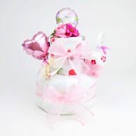 ピンク 2段(おくるみ付き)